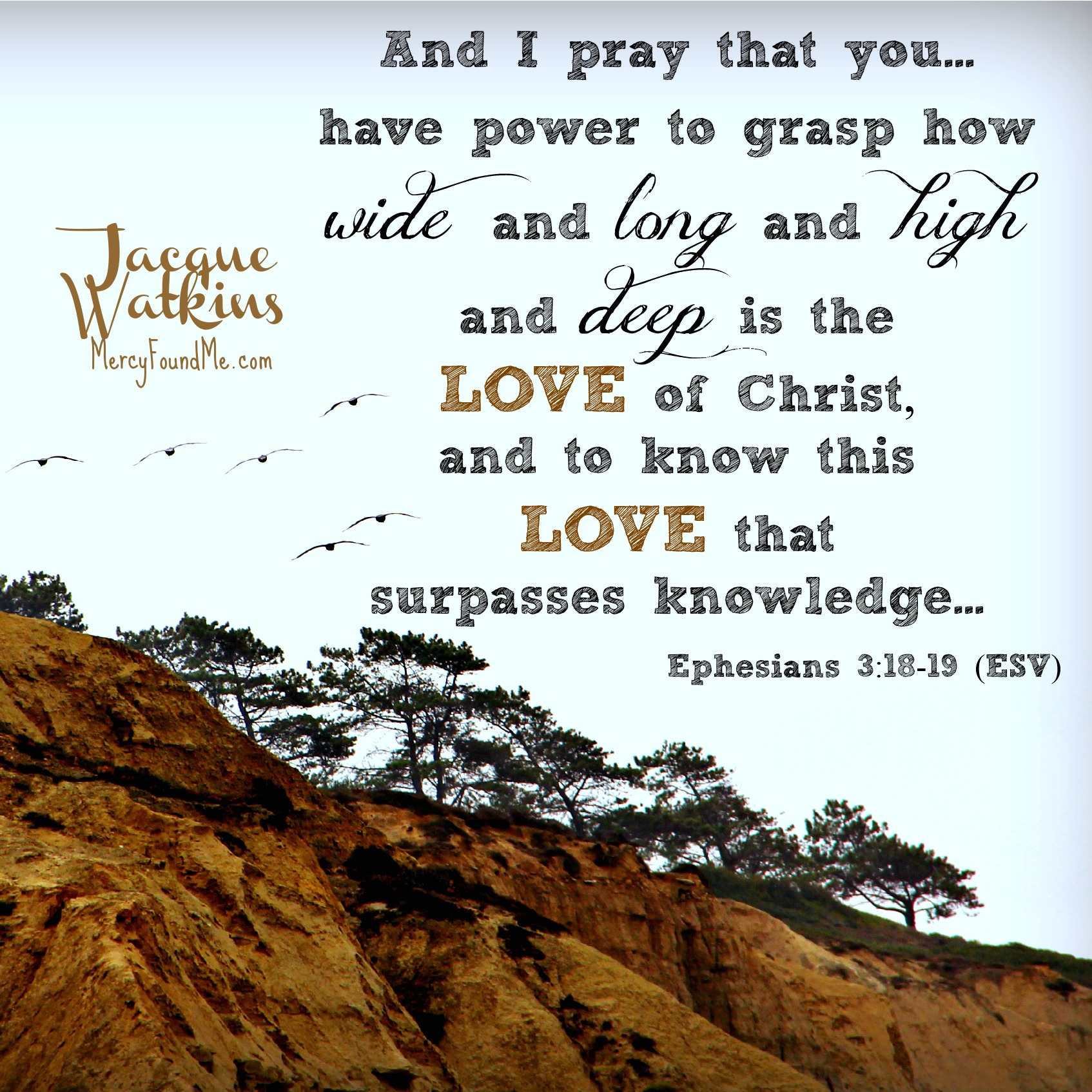For When You Need To Grasp His Love