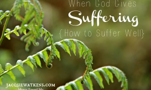 When God Gives Suffering :: {How to Suffer Well}