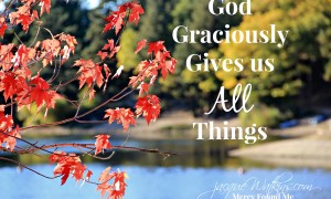 God Graciously Gives us All Things