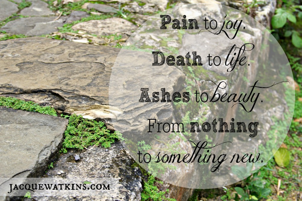 Pain to Joy. Death to Life. Ashes to Beauty.