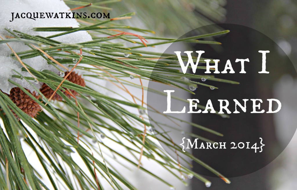 What I Learned March 2014