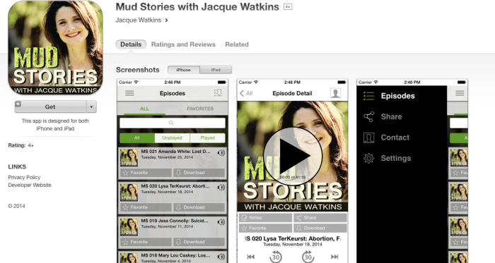 Mud Stories Podcast App