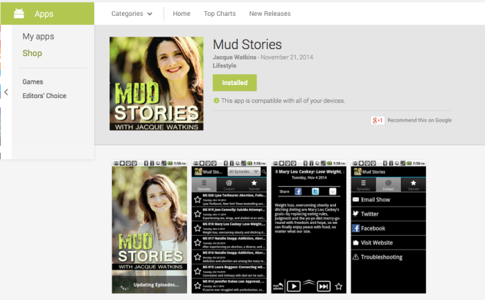Mud Stories Podcast Android App